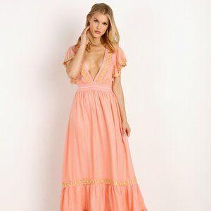 Cleobella Camelia Maxi Dress Guava XS